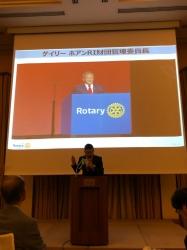 2019〜20 年度ゲイリーC. K. ホァン ロータリー財団管理委員長来日時の様子